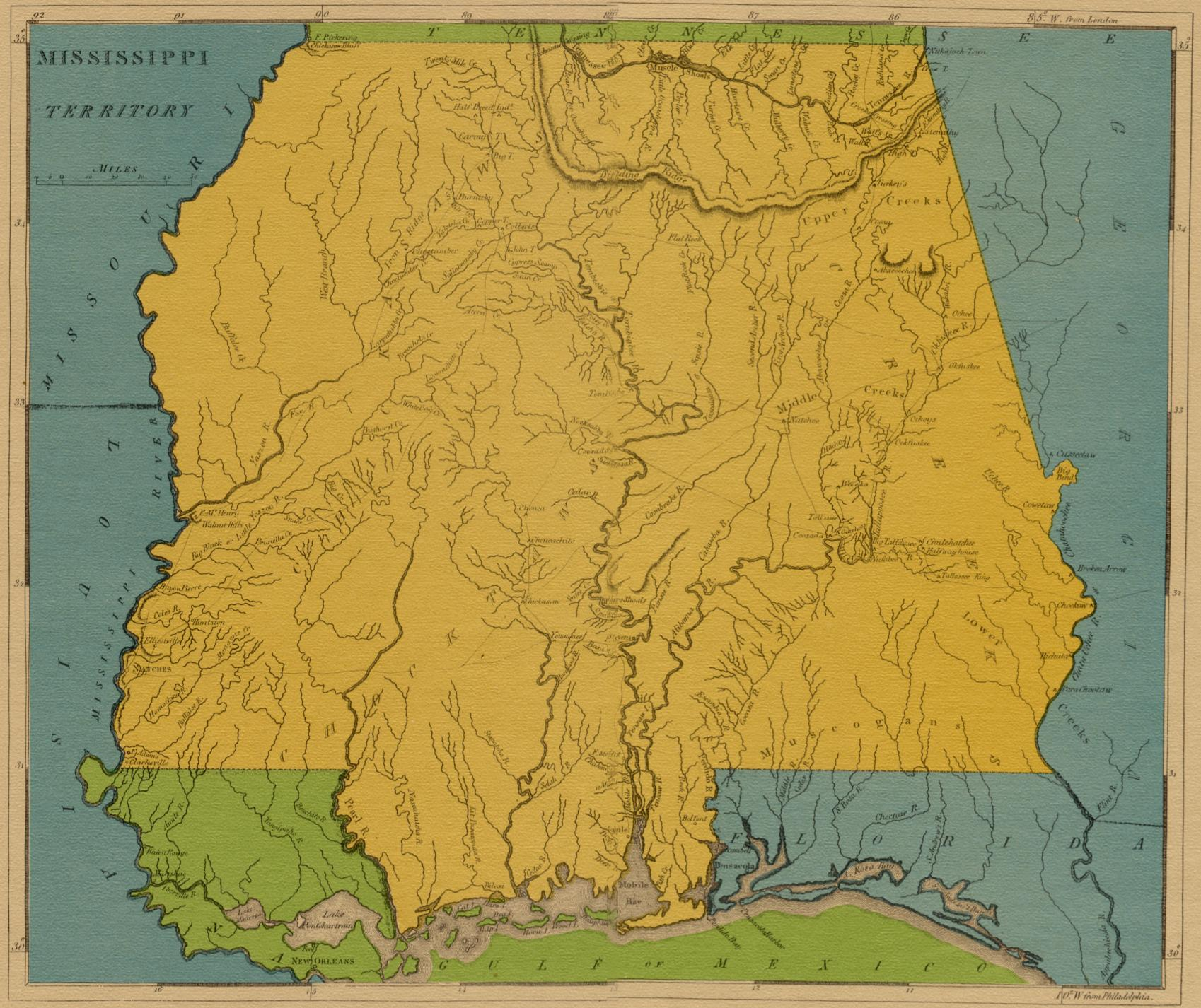 Map To Mississippi, 1816 Map Of Mississippi Territory, Map To Mississippi