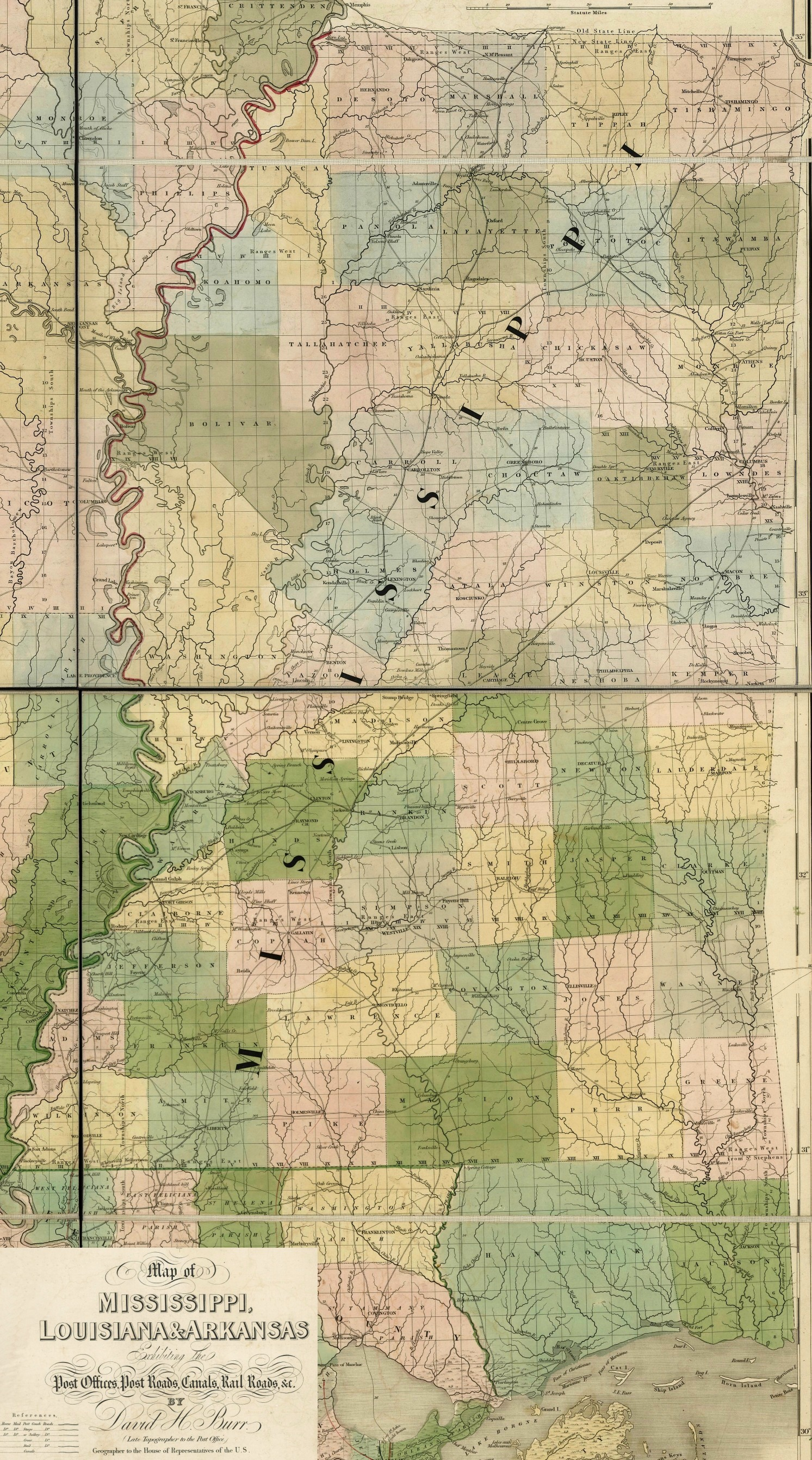 State Of Mississippi Ancestral Trackers Maps - Map of ms